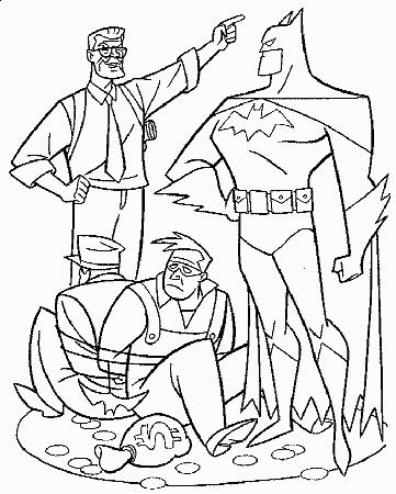 Kleurplaten Batman 3.Kleurplaten Batman