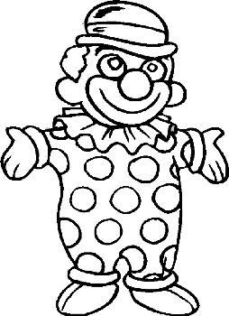 Kleurplaten Clown.Kleurplaten Clowns