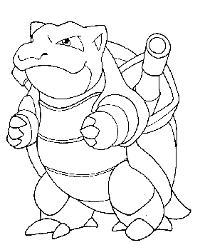 blastoise coloring pages - blastoise kleurplaat